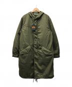ALPHA(アルファ)の古着「M-51 ライナー付フィッシュテールライナー付モッズコート」|カーキ