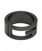 GUCCI(グッチ)の古着「Gロゴリング」|ブラック