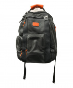 TUMI(トゥミ)の古着「レザーバックパック」 ブラック×オレンジ