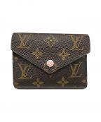 LOUIS VUITTON()の古着「ポルトフォイユ・ヴィクトリーヌ/2つ折り財布」|ブラウン×ピンク
