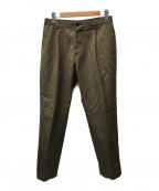 UNITED ARROWS(ユナイテッドアローズ)の古着「チェックセンタープレスパンツ」|ベージュ