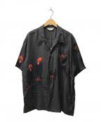 STAR OF HOLLYWOOD×BEAMS(スターオブハリウッド×ビームス)の古着「別注クレイジーオープンカラーシャツ」|ブラック