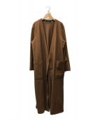 ()の古着「ガウンコート」|ブラウン