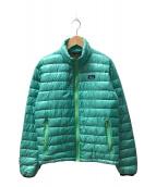 ()の古着「スーパーライトダウンジャケット」|エメラルドグリーン