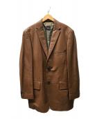 ()の古着「ラムレザーテーラードジャケット」|ブラウン