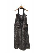 ()の古着「ジャンパースカート」|ブラウン