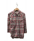 ()の古着「ウエスタンシャツ」|レッド
