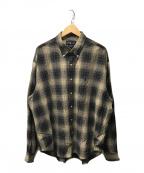 RALPH LAUREN(ラルフローレン)の古着「チェックシャツ」|ブラウン