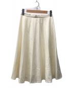 ()の古着「ウールフラノ サーキュラースカート」|ホワイト