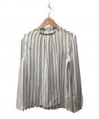 BALLSEY(ボールジィー)の古着「ツアーツイルプリントブラウス」|ホワイト