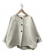 ROPE mademoiselle(ロペマドモアゼル)の古着「メルトンライクポンチョ」|ホワイト