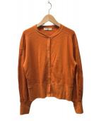 ()の古着「ハニカムスナップボタンカーディガン」|オレンジ