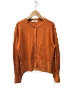 ROPE mademoiselle(ロペマドモアゼル)の古着「ハニカムスナップボタンカーディガン」|オレンジ