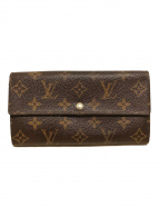 ()の古着「 ポルトフォイユ サラ モノグラム 長財布」|ブラウン