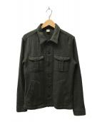 ()の古着「ウールシャツジャケット」|オリーブ