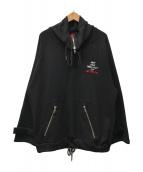 ()の古着「プルオーバーパーカー」|ブラック