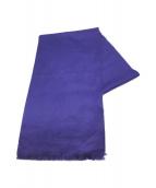 ()の古着「カシミヤマフラー」|ブルー