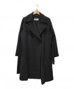MaxMara(マックスマーラ)の古着「アンゴラ混コート」 ブラック
