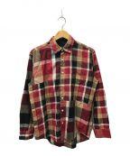 BLACK LABEL CRESTBRIDGE()の古着「クレストブリッジチェックシャツ」 ベージュ