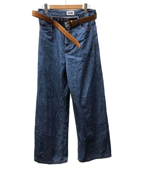 MAGLIANO(マリアーノ)MAGLIANO (マリアーノ) ベルト付ワイドデニムパンツ ブルー サイズ:Mの古着・服飾アイテム