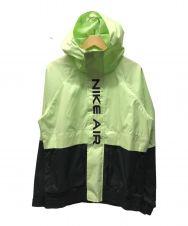 NIKE (ナイキ) NSW NIKE AIR ウーブン フーディ ジャケット グリーン×ブラック サイズ:S