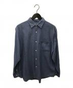 COMOLI(コモリ)の古着「ベタシャンコモリシャツ」|ブルー