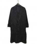 undecorated MAN(アンデコレイテッドマン)の古着「ロングコート」 ブラック