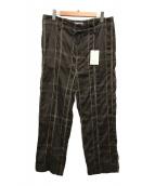 ()の古着「ビッグプレイドワイドパジャマパンツ」|ブラウン