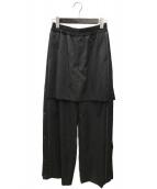 ()の古着「ジャージスカートパンツ」 グレー