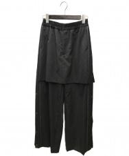 FACETASM (ファセッタズム) ジャージスカートパンツ グレー サイズ:1