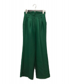 ()の古着「Wool Silk Straight Pants」|グリーン