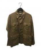 COMOLI(コモリ)の古着「カナパウールサファリジャケット」|ベージュ