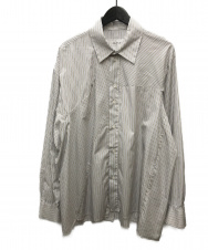 CAMIEL FORTGENS (カミエル・フォートヘンス) weird shaped shirts ホワイト×ネイビー サイズ:M