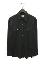 LEVI'S()の古着「ヴィンテージウエスタンシャツ」 ブラック