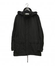 STONE ISLAND ( ストーンアイランド) フーデッドナイロンジャケット ブラック サイズ:XL