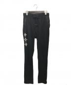 TATRAS(タトラス)の古着「ロゴ刺繍パンツ」 ブラック