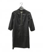 MARNI(マルニ)の古着「ウールブラウスワンピース」|グレー