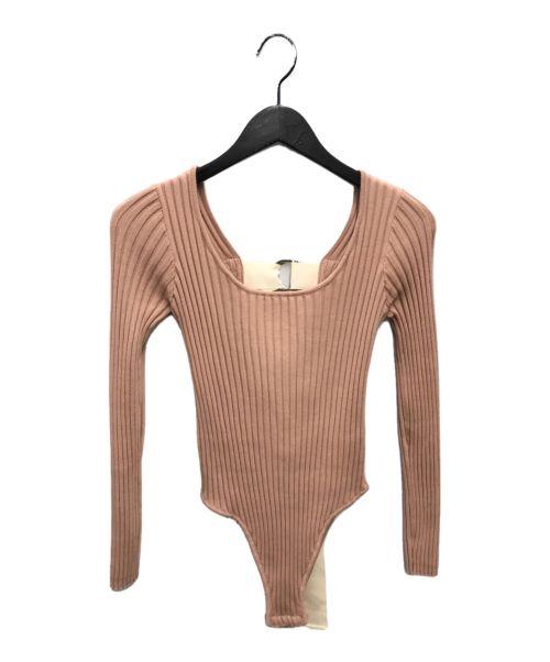 LEINWANDE(ラインヴァンド)LEINWANDE (ラインヴァンド) ボディスーツ ベージュ サイズ:FREEの古着・服飾アイテム