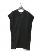 YOKO CHAN(ヨーコチャン)の古着「ツイードコクーンワンピース」|ブラック