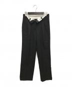 ALEXANDER WANG(アレキサンダーワン)の古着「2タック変形パンツ」 ブラック