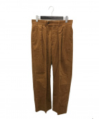 NEAT(ニート)の古着「Antique Corduroy Wide Trousers」|ブラウン