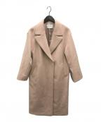 UNITED ARROWS(ユナイテッドアローズ)の古着「UWSC W/N BIG テーラードコート」|ピンク