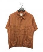 VISVIM(ビズビム)の古着「ストライプシャツ」|オレンジ