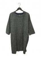 ヒムカシ製図(ヒムカシセイズ)の古着「ウールリネンワンピース」|グレー