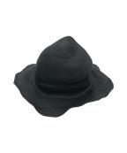 SCHA(シャー)の古着「ラフィアハット」 ブラック