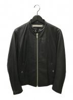LORINZA(ロリンザ)の古着「シングルライダースジャケット」|ブラック