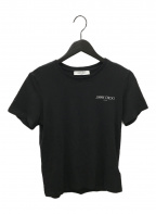 JIMMY CHOO(ジミーチュウ)の古着「ロゴカットソー」 ブラック