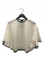 Mame Kurogouchi(マメ クロゴウチ)の古着「FlowerPrinted FlareShirt」 アイボリー