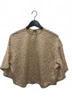 Mame Kurogouchi(マメ クロゴウチ)の古着「FlowerPrinted FlareShirt」 ベージュ