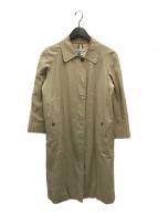()の古着「ヴィンテージラグランステンカラーコート」 ベージュ